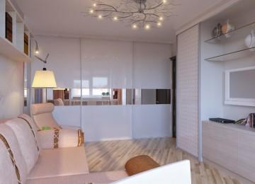 Куда поставить шкаф-купе в однокомнатной квартире: фото, интересные идеи (86 фото)