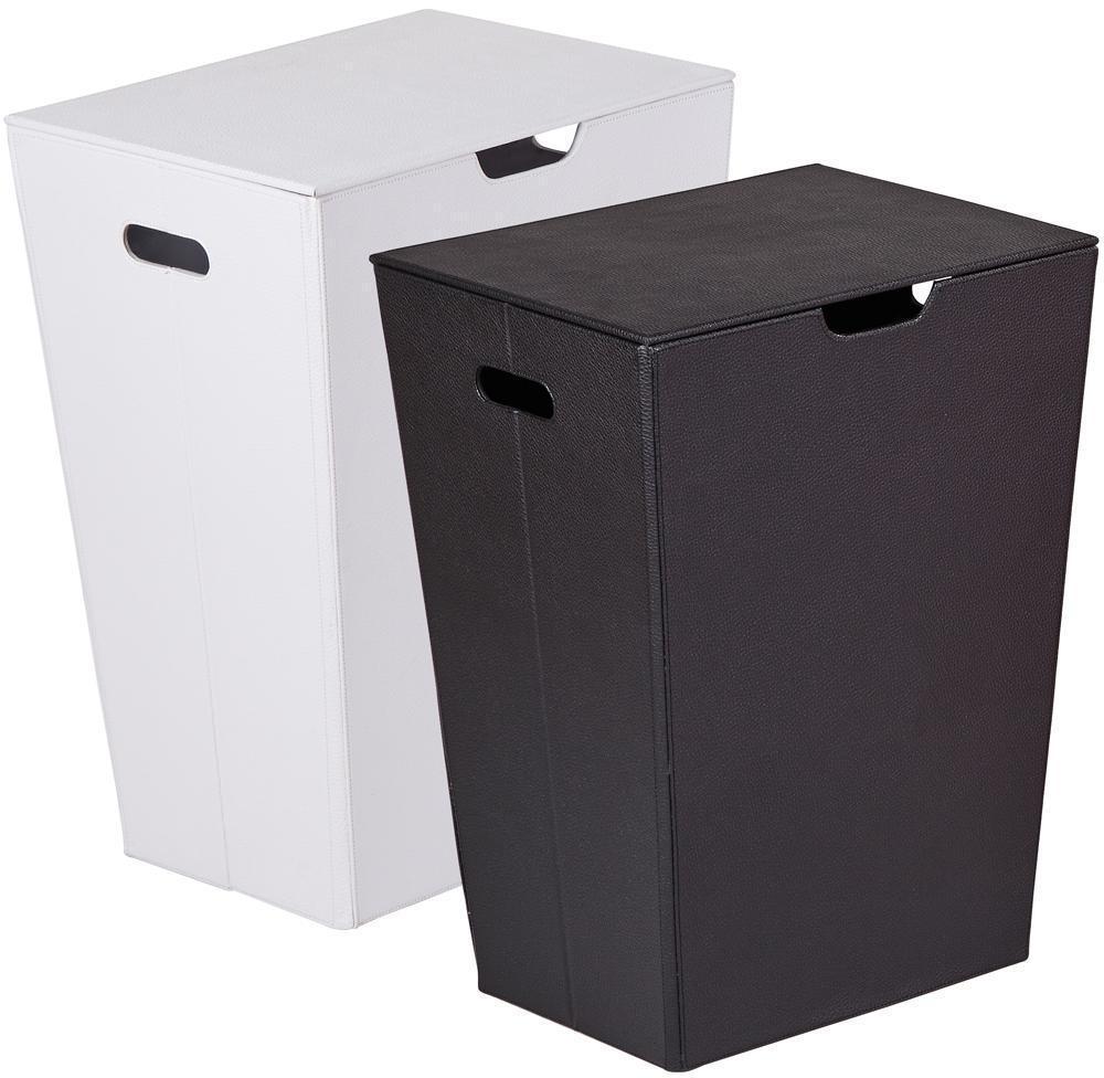 Кожаные корзины для белья в ванную