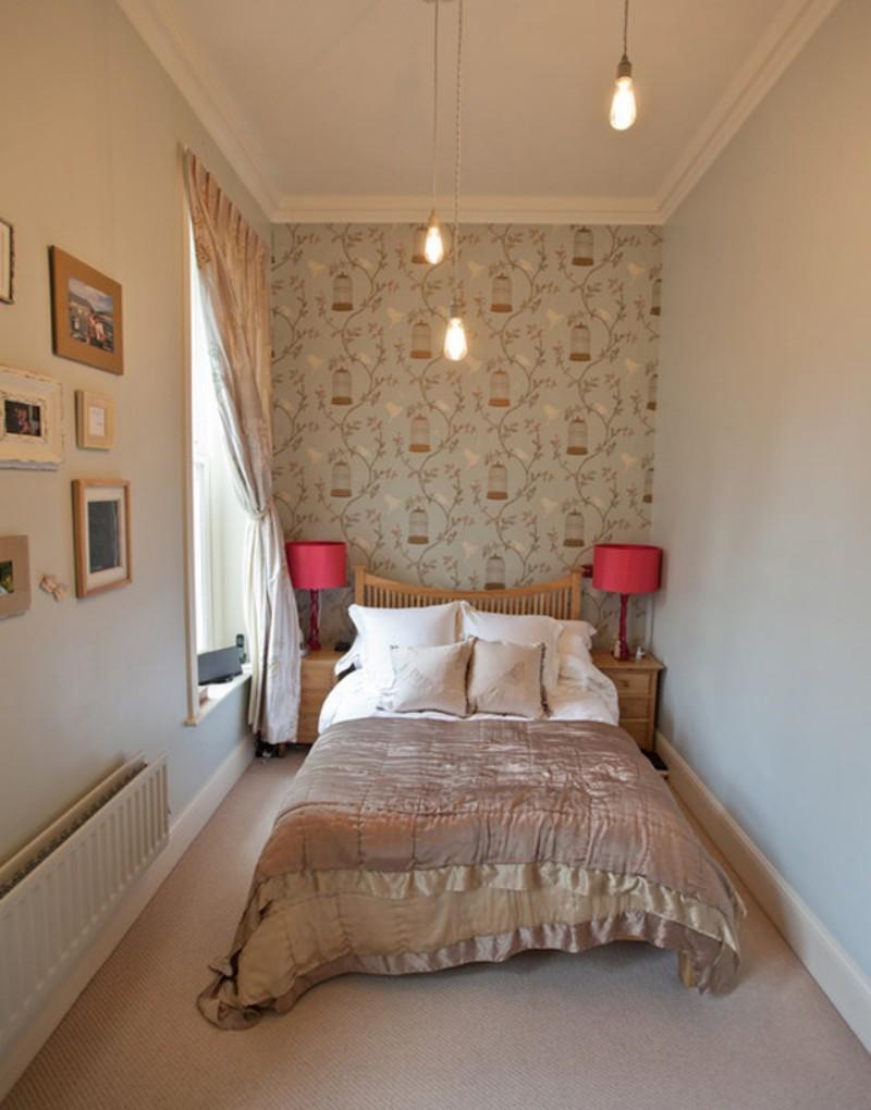 Узкая спальня 12 кв м