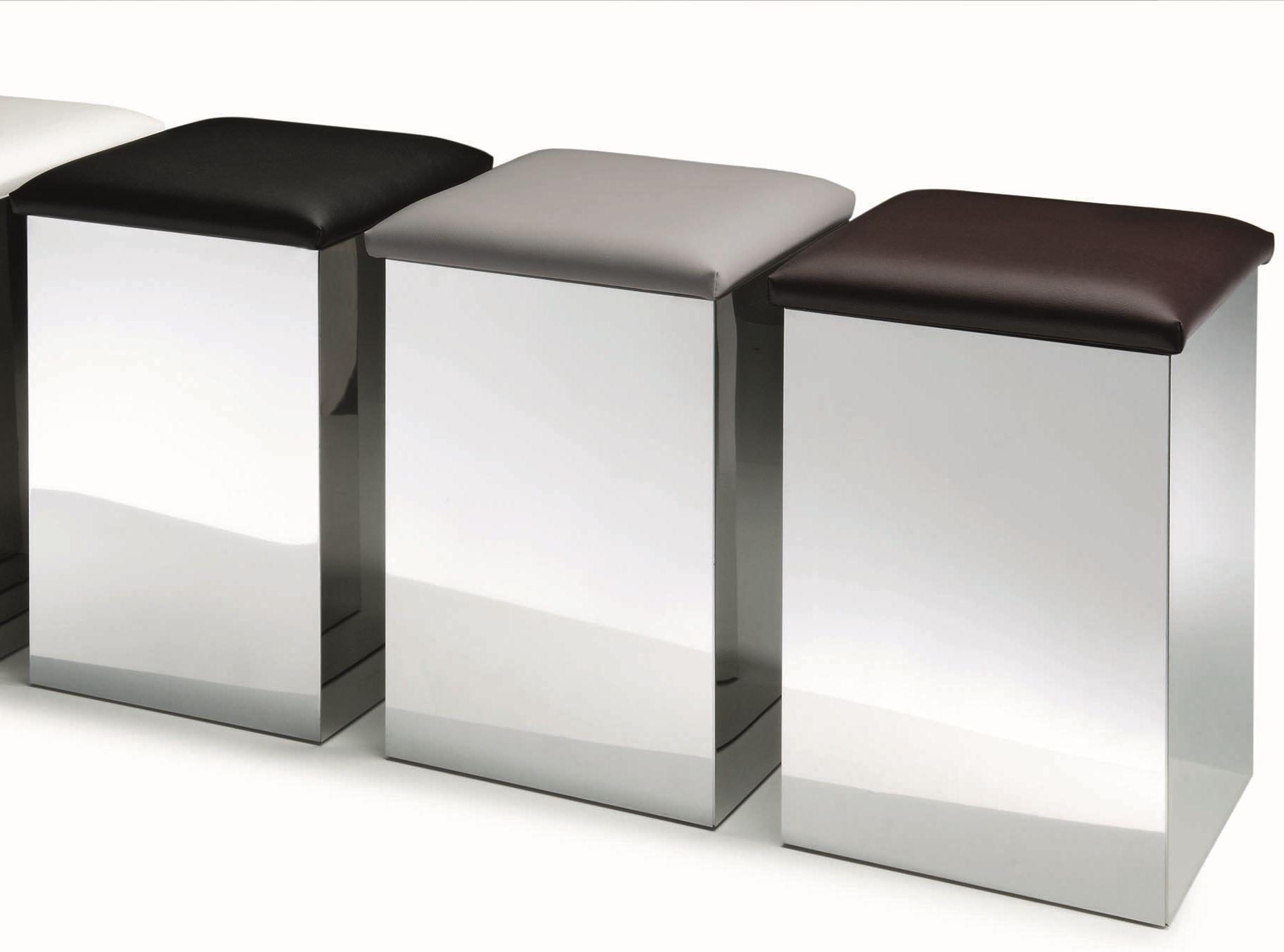 Металлические корзины для белья с сидушками для ванной