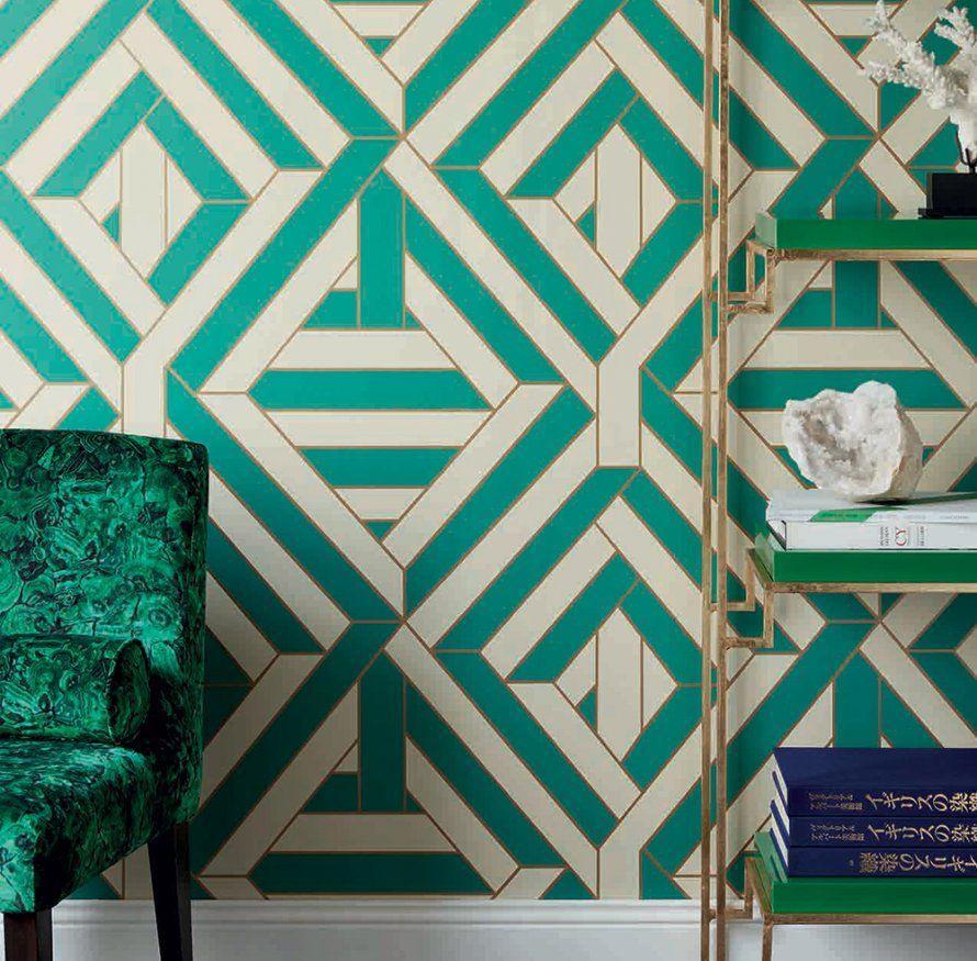 Дизайн обоев для однокомнатной квартиры бирюзовый