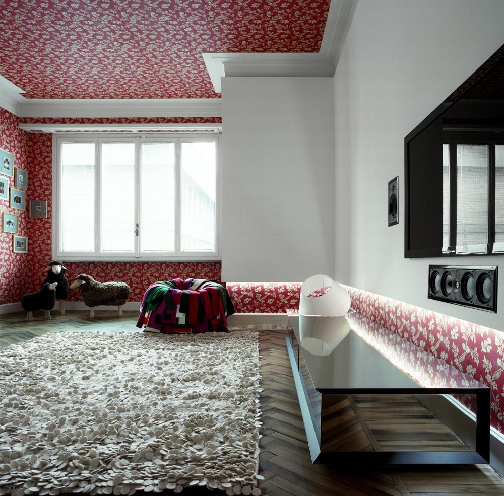 Дизайн обоев красный