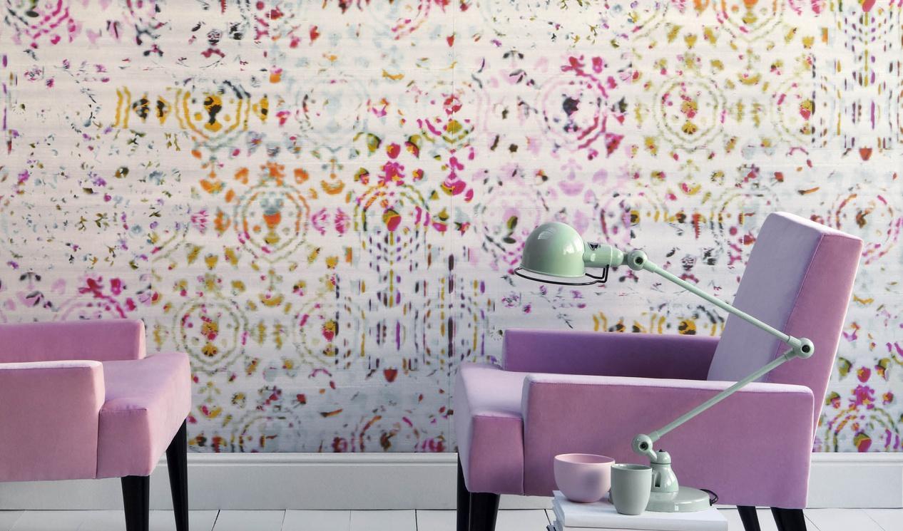 Дизайн обоев для однокомнатной квартиры фиолетовых