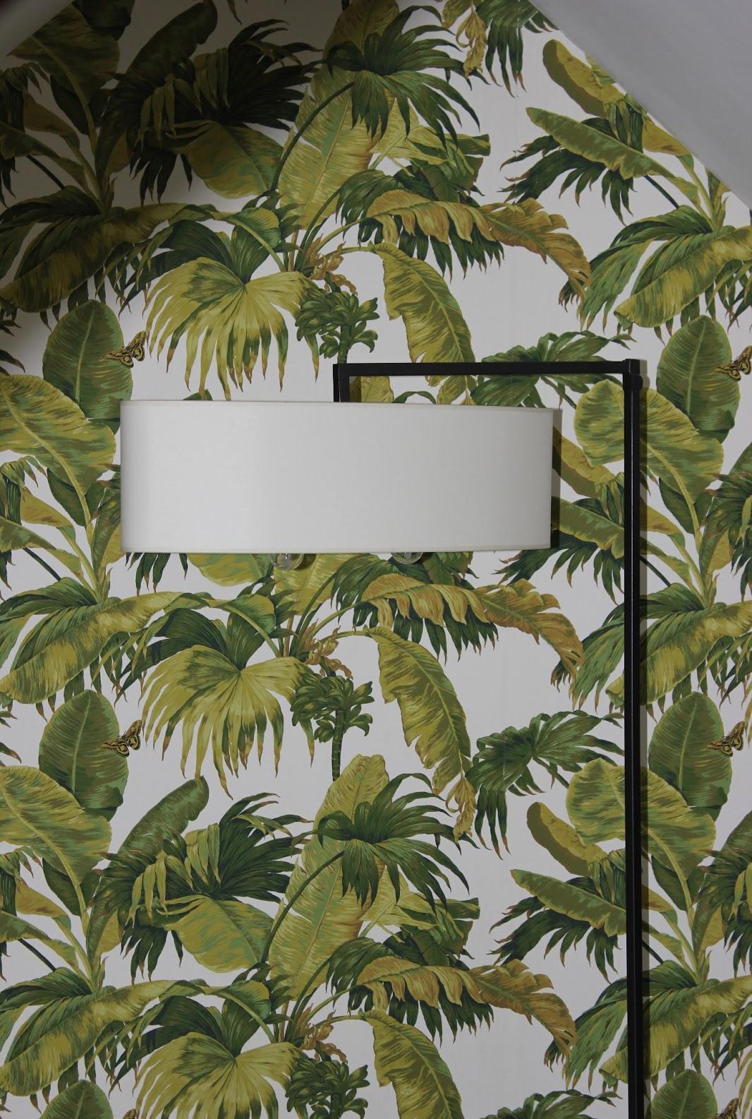 Дизайн обоев с растительным принтом