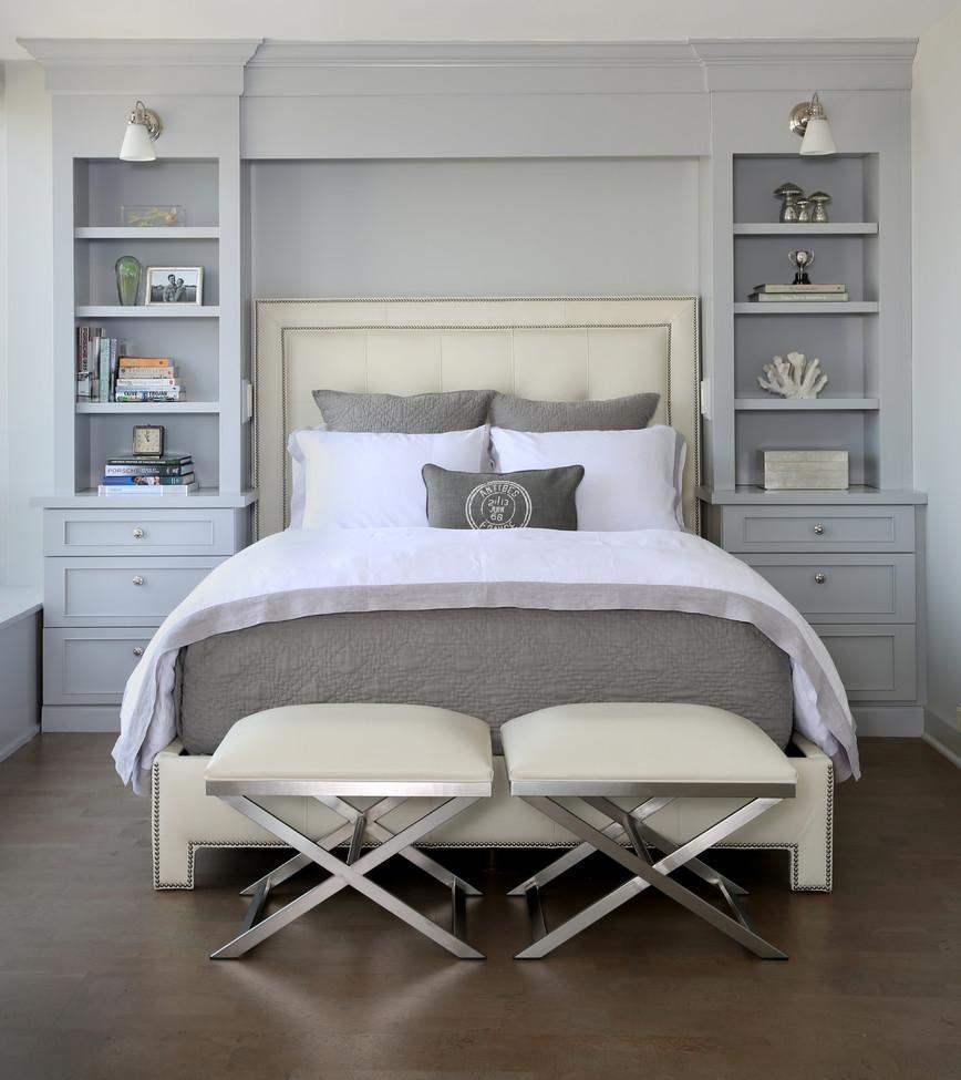 Кремово-серая спальня