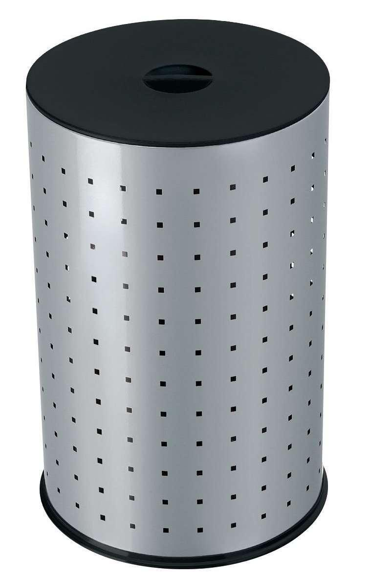Металлическая корзина для белья в ванной