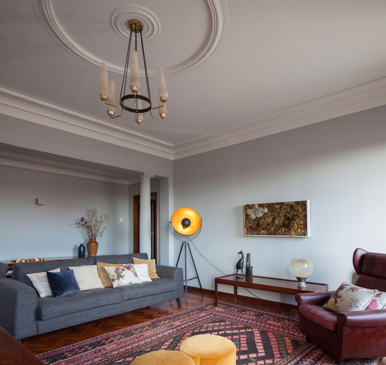 Бюджетный ремонт в однокомнатной квартире в стиле ретро