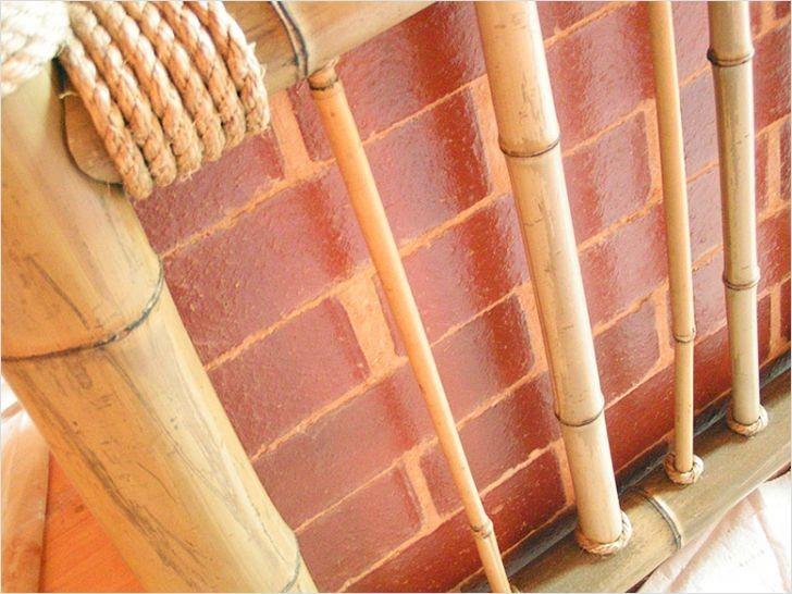 Декор труб бамбуком
