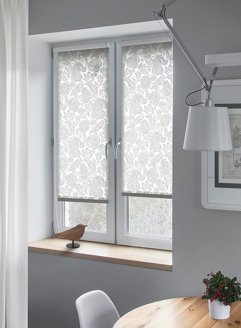 Рулонные шторы с принтом для кухни