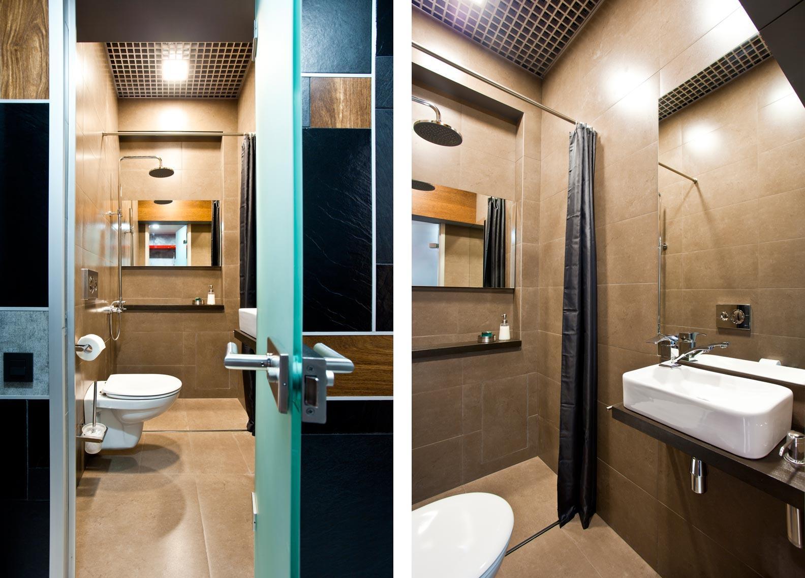 Дизайн коричневой ванной