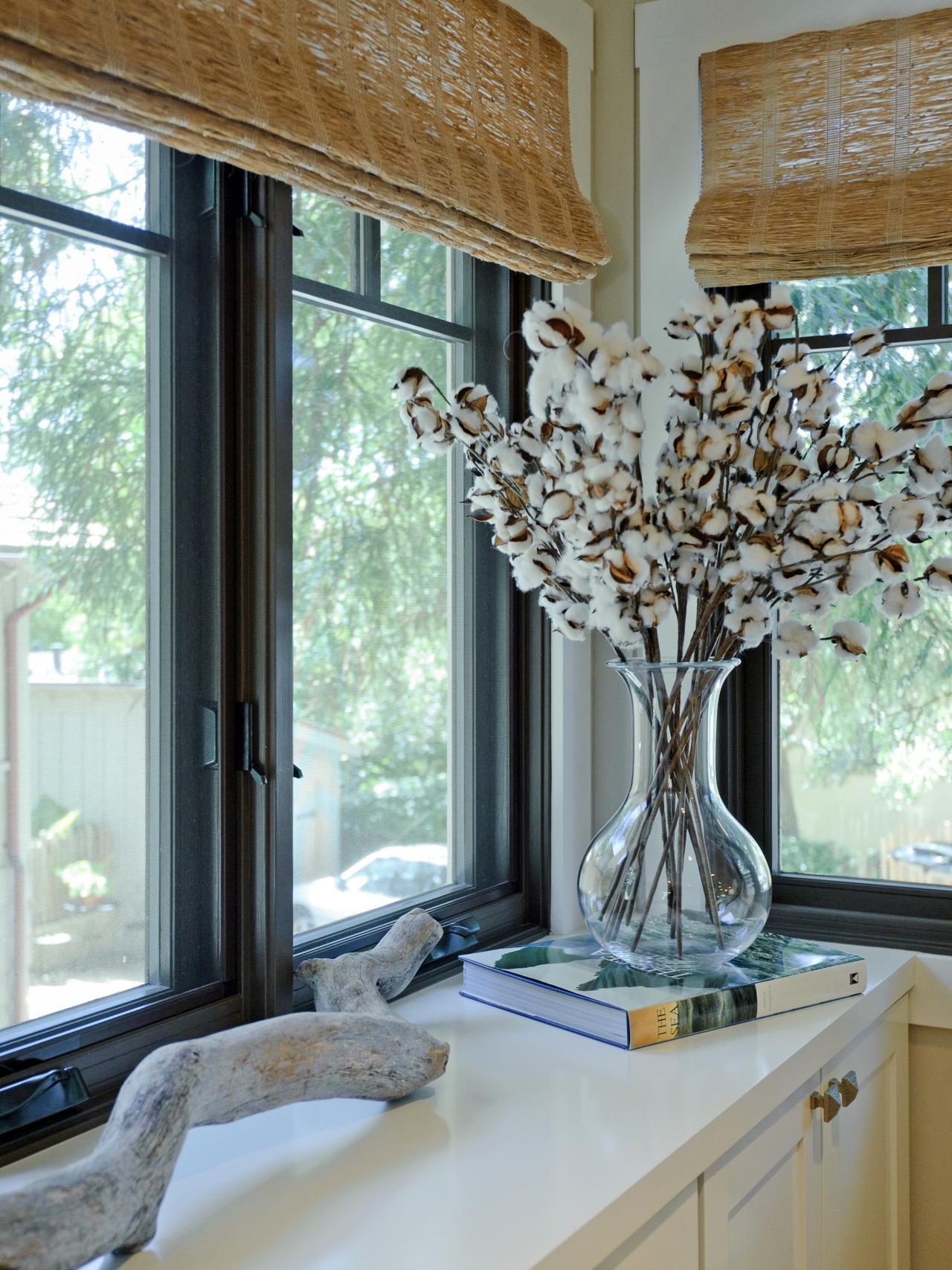 Дизайн штор для кухни в стиле эко