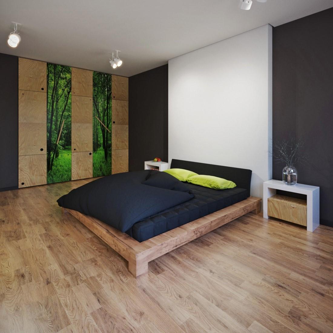 Спальня 12 кв м в стиле эко