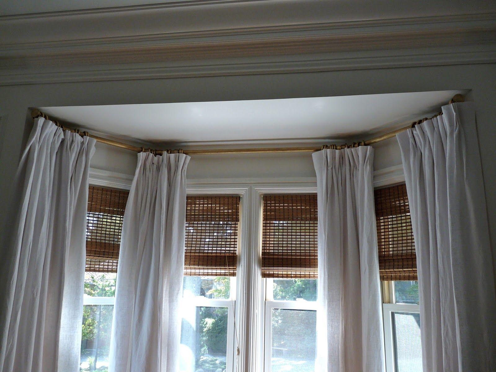 Дизайн штор для кухни на эркерное окно