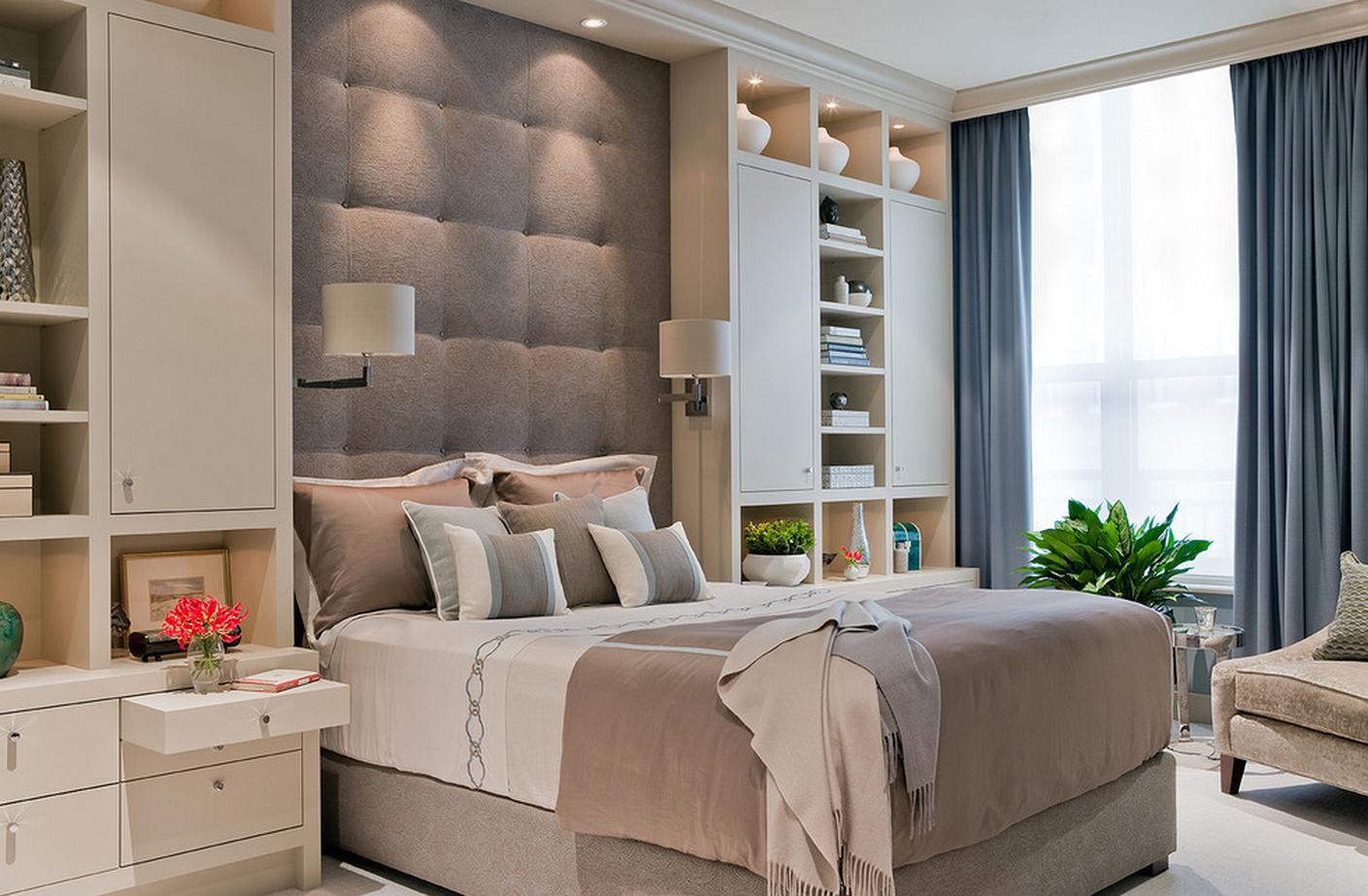 Вариант расстановки мебели в спальне 12 кв м