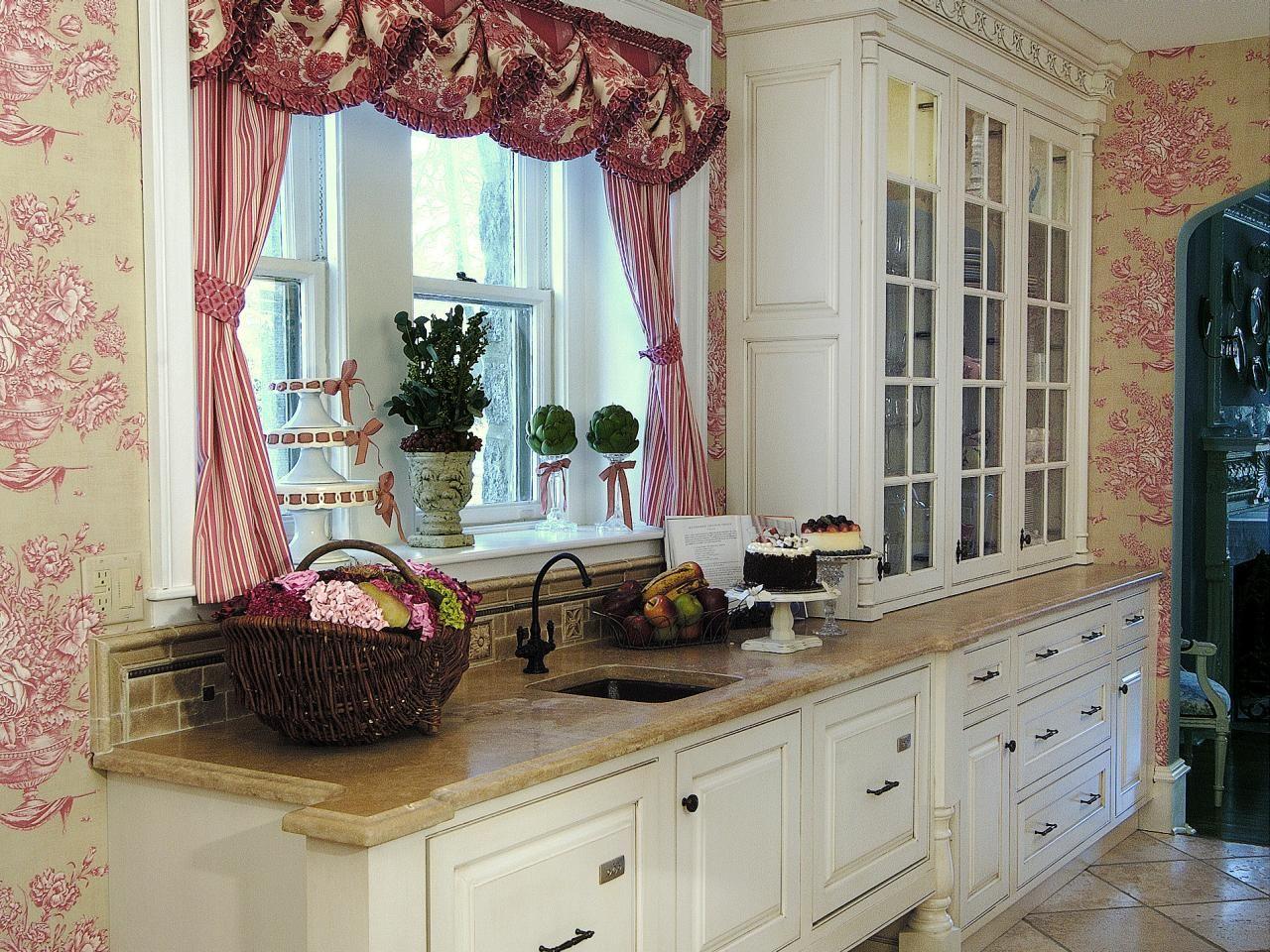 Дизайн штор для кухни во французском стиле