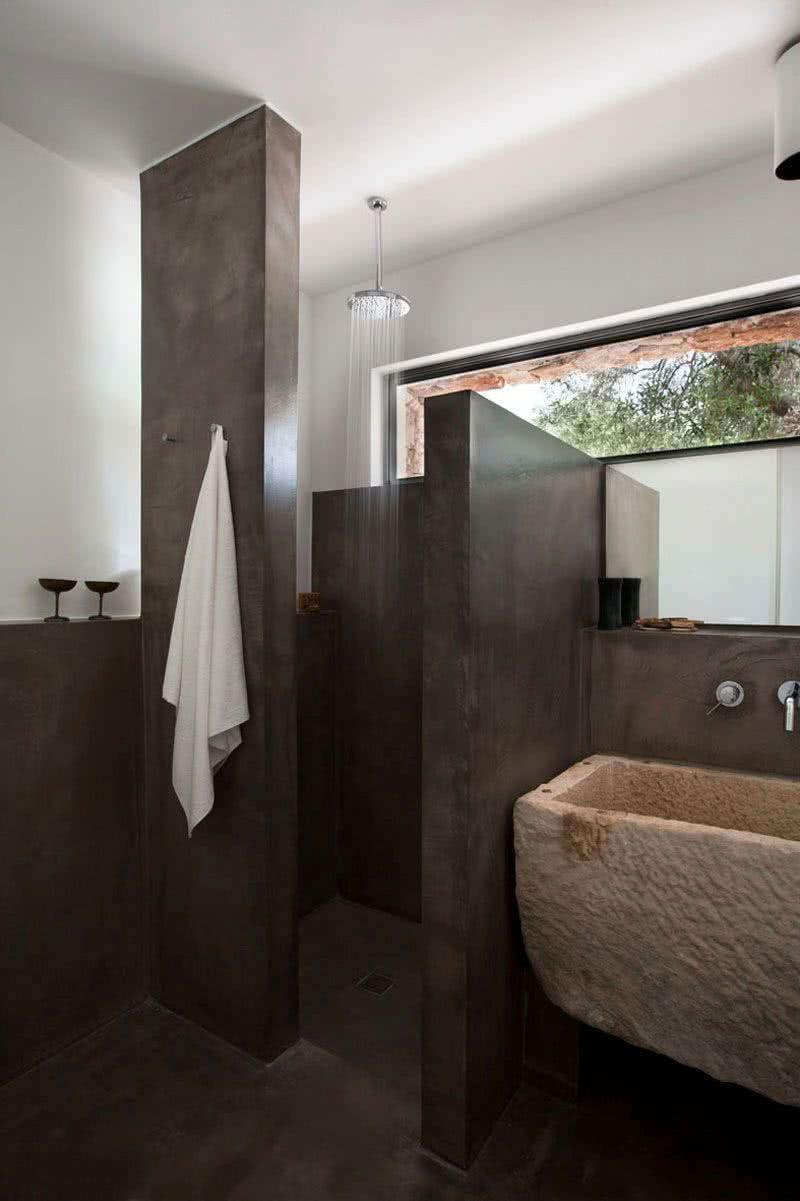 Ванная 6 кв м с каменной плиткой