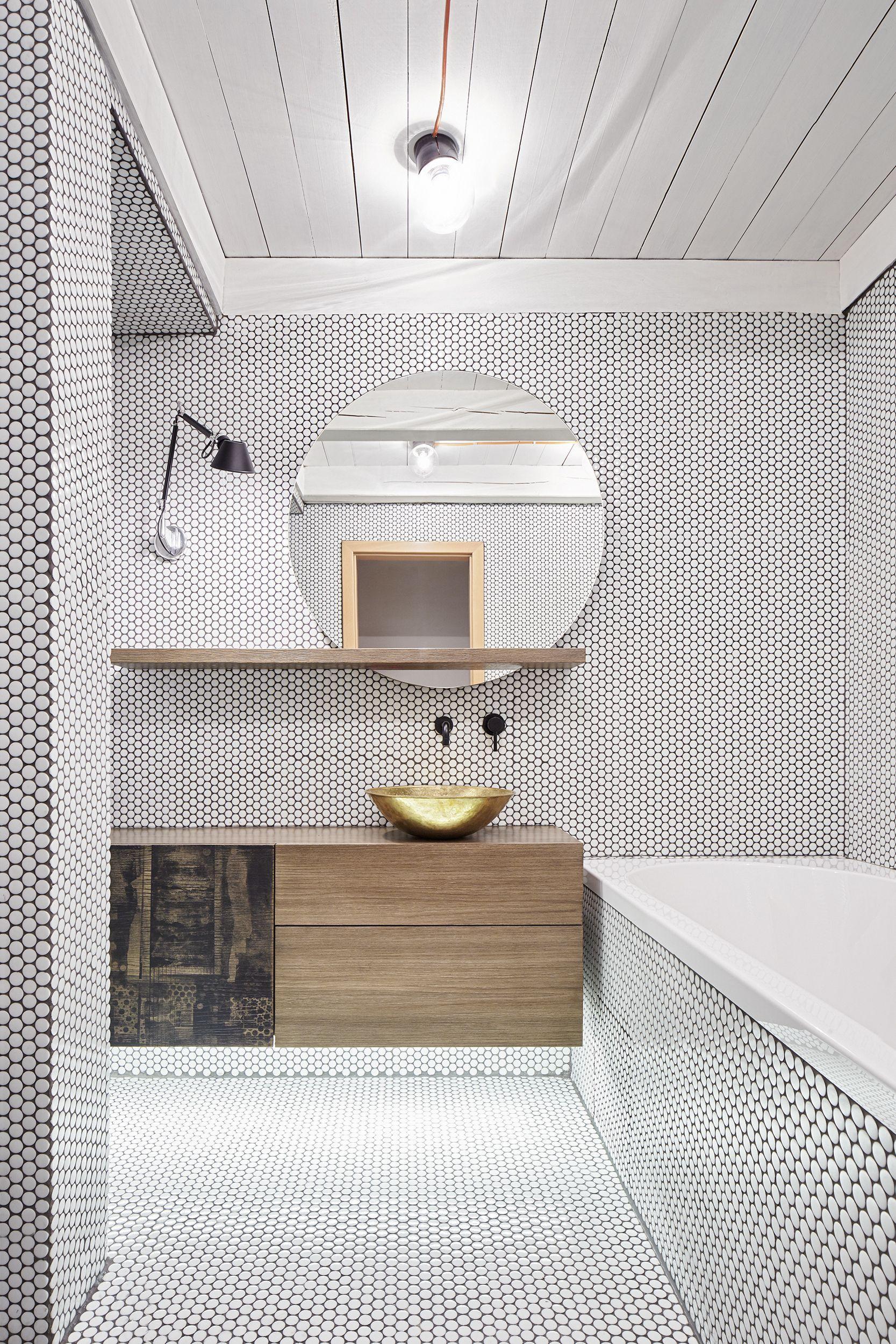 Ванная 6 кв м с круглой мозаикой