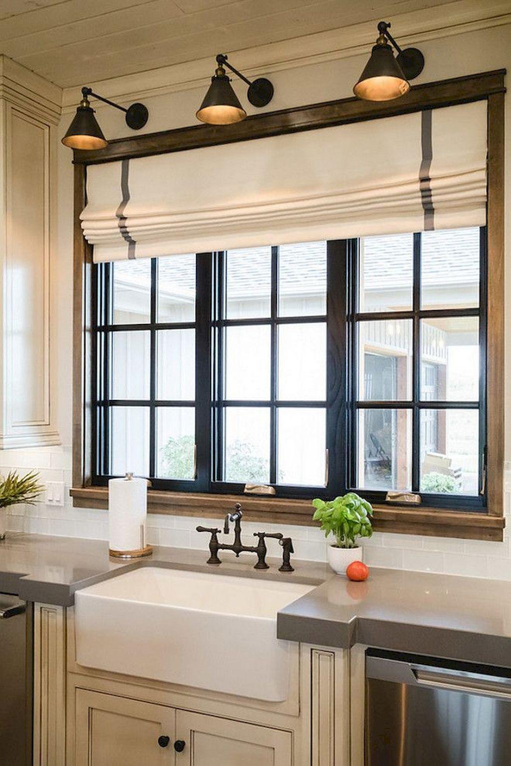 Дизайн штор для кухни льняных