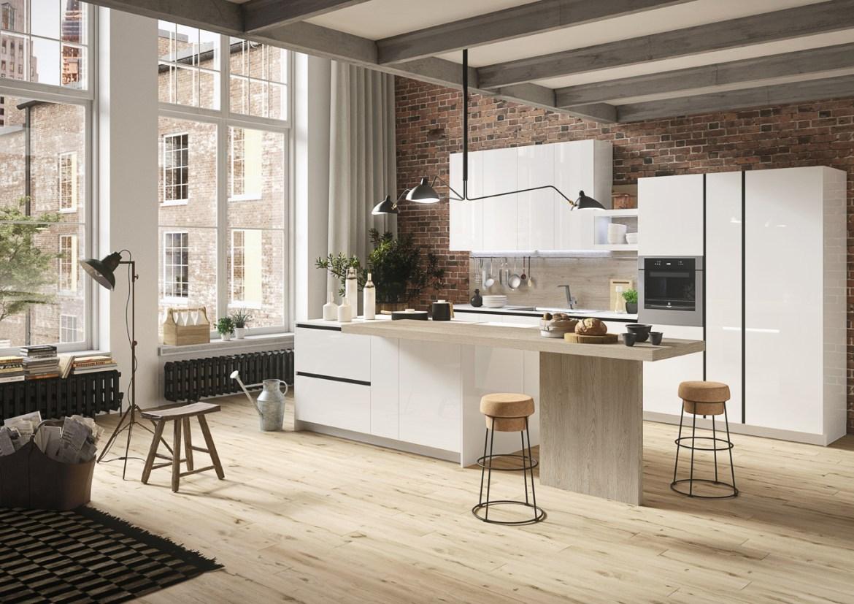 Дизайн штор для кухни в стиле лофт