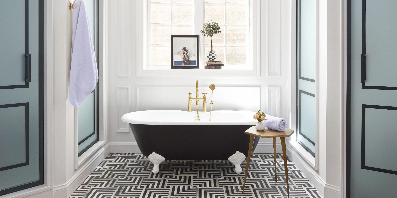 Ванная 6 кв м в стиле модерн