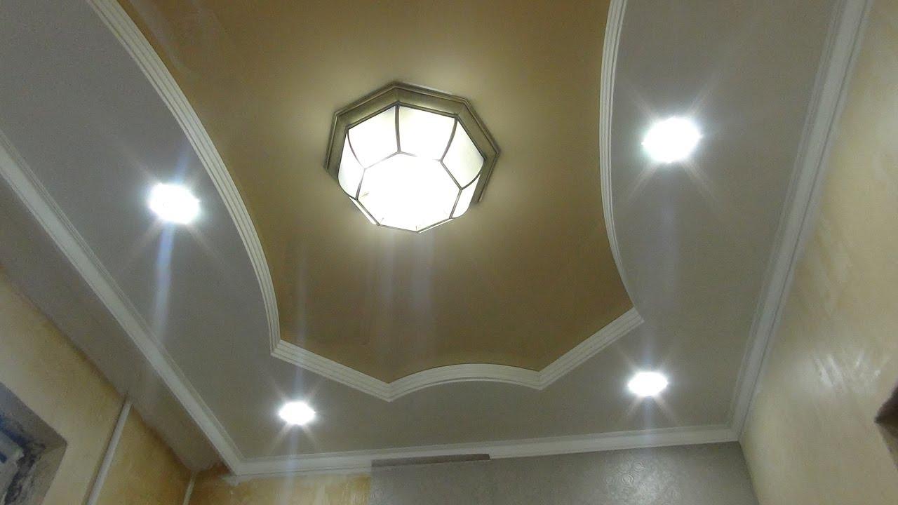 Люстра для натяжного потолка с плафонами