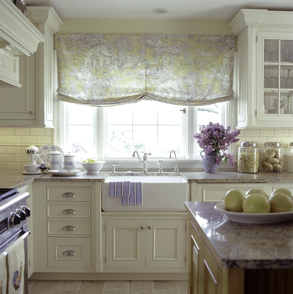 Дизайн штор для кухни в стиле прованс