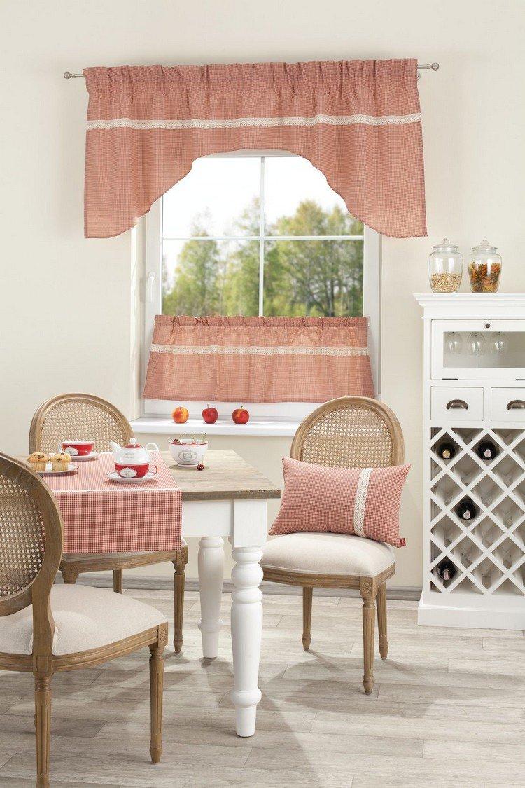 Дизайн штор для кухни прованс