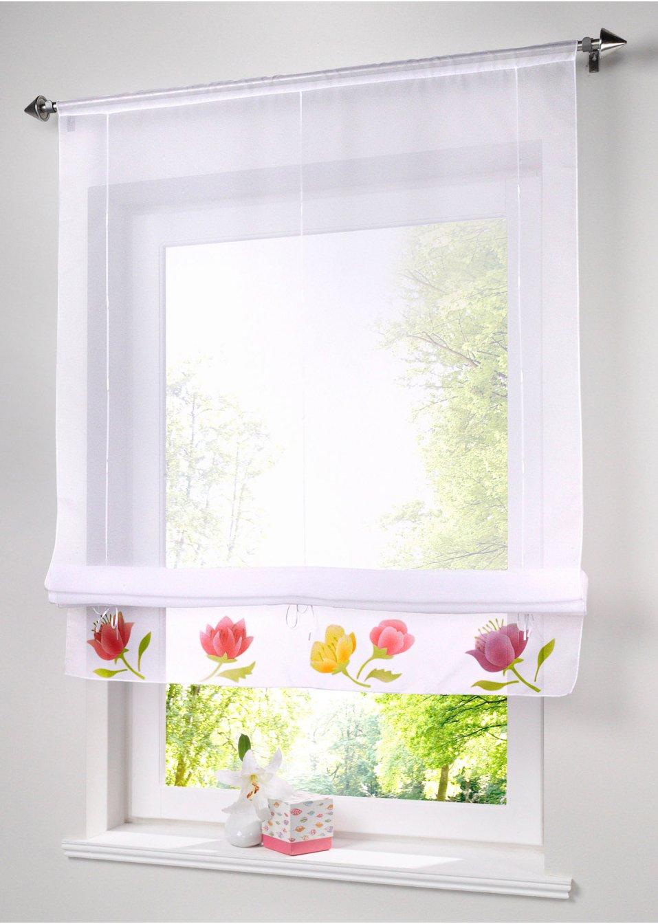 Дизайн штор для кухни прозрачных