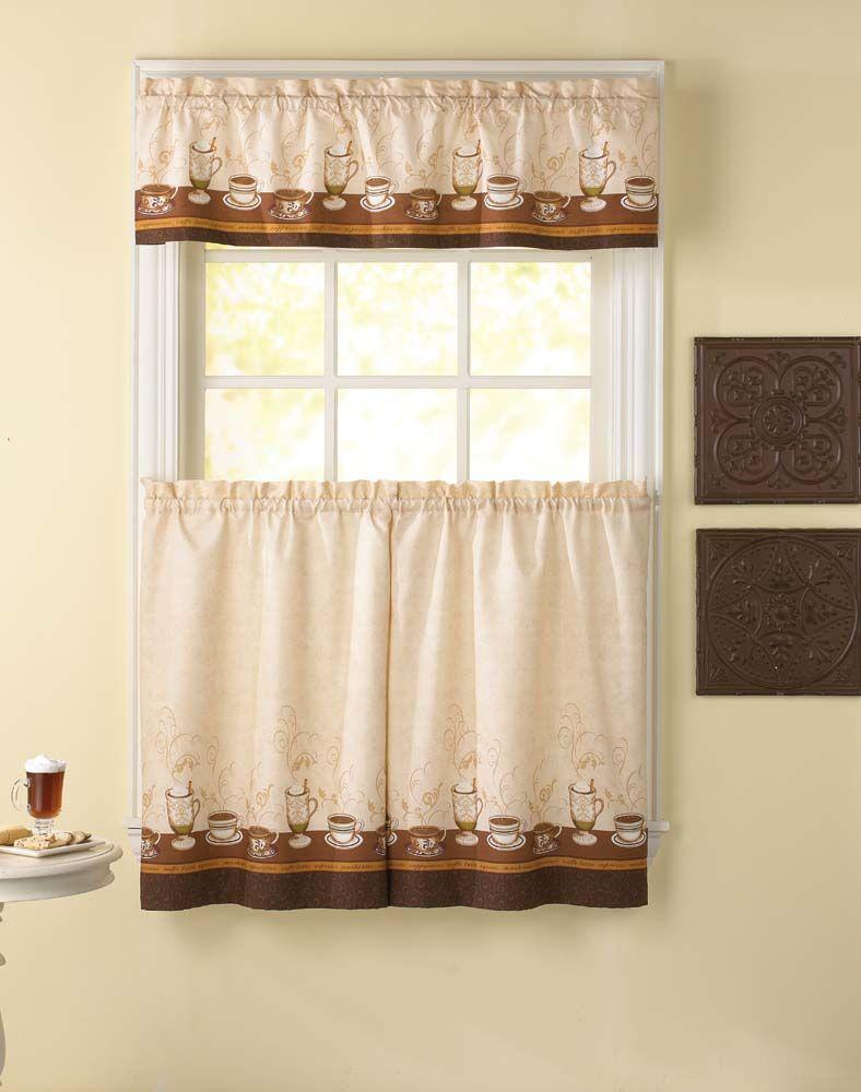 Дизайн штор для кухни с рисунком