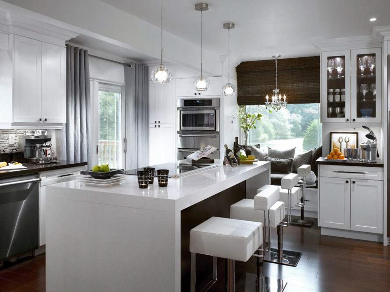 Дизайн серых штор для кухни