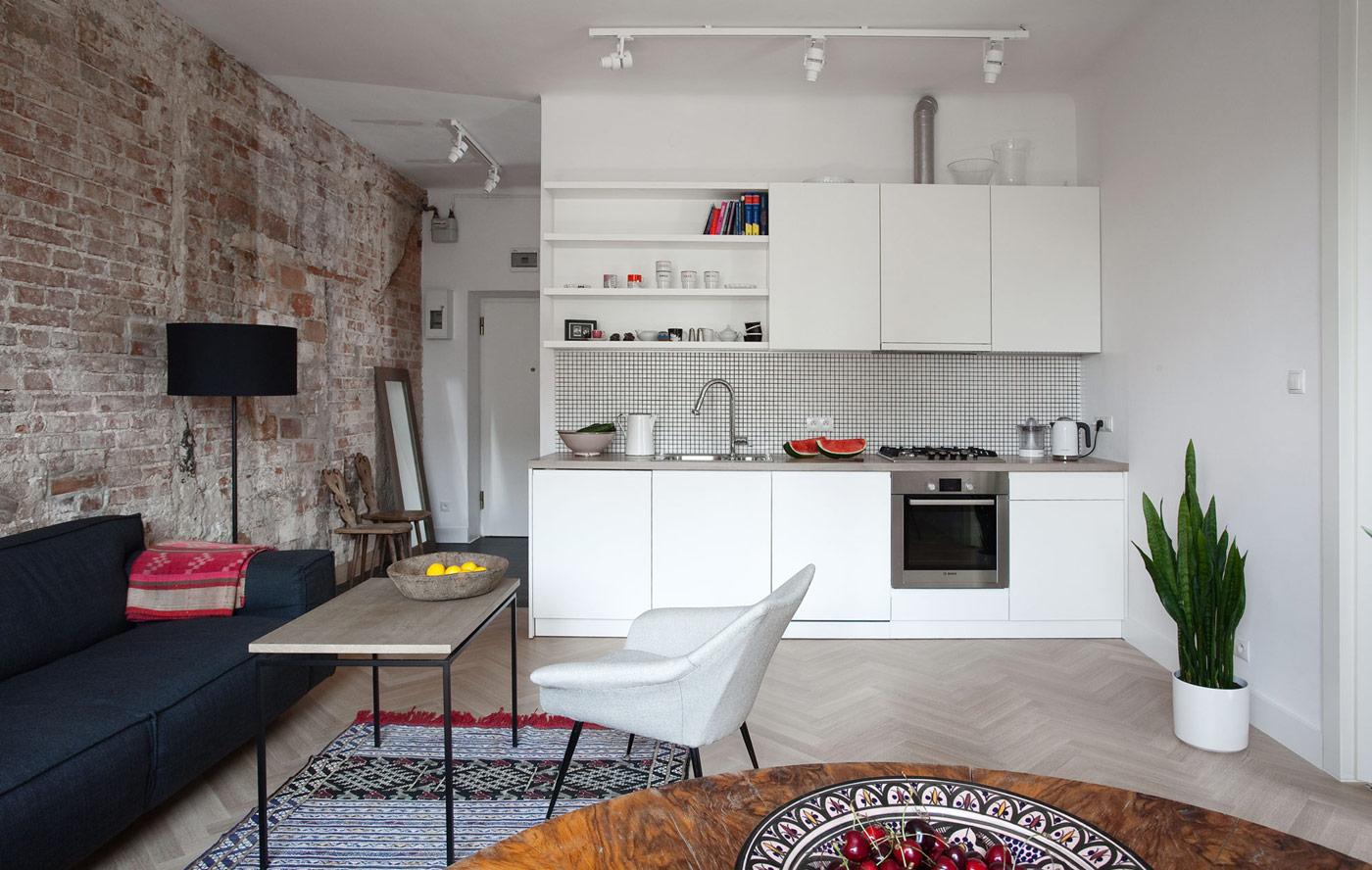 Бюджетный ремонт квартиры студии в стиле лофт