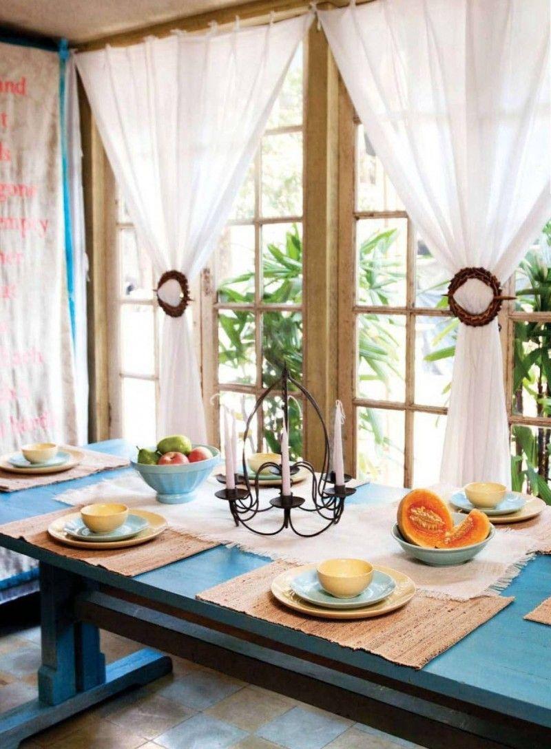 Дизайн штор и тюля для кухни