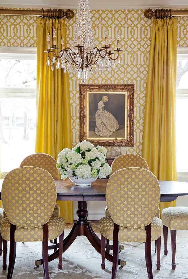 Обои в гостиной желтые