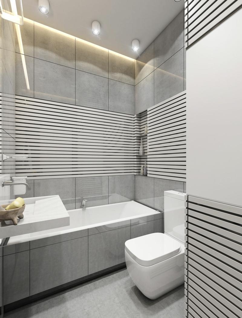 Ванная 9 кв. м с глянцевой плиткой