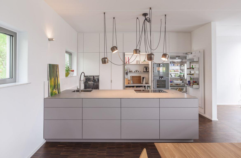 Дизайн кухни серый 2017