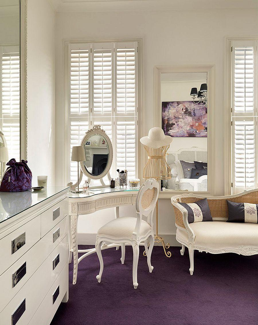 Спальня с рабочим кабинетом в стиле прованс