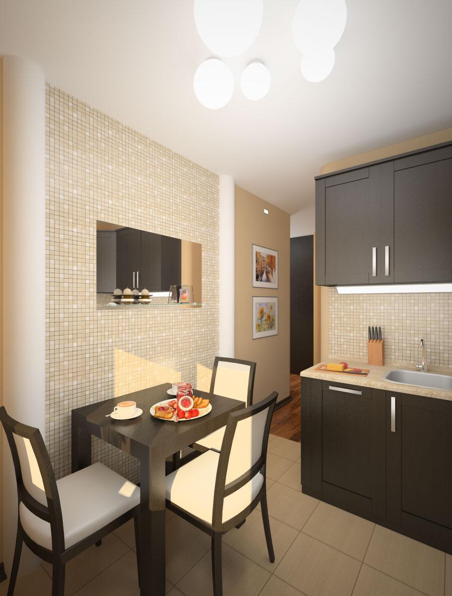 Проект маленькой кухни 5 кв м