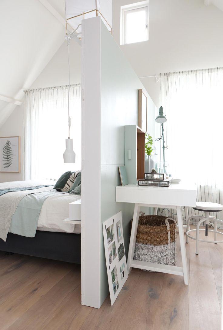 Перегородка в спальне с кабинетом