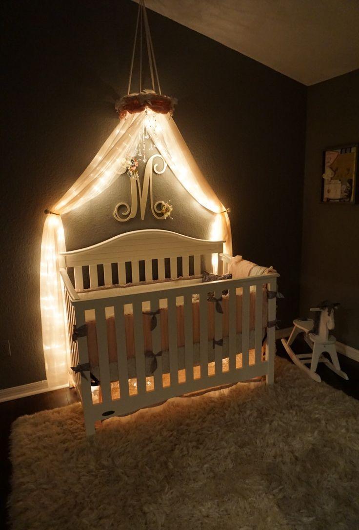 Декор детской кроватки led лентой