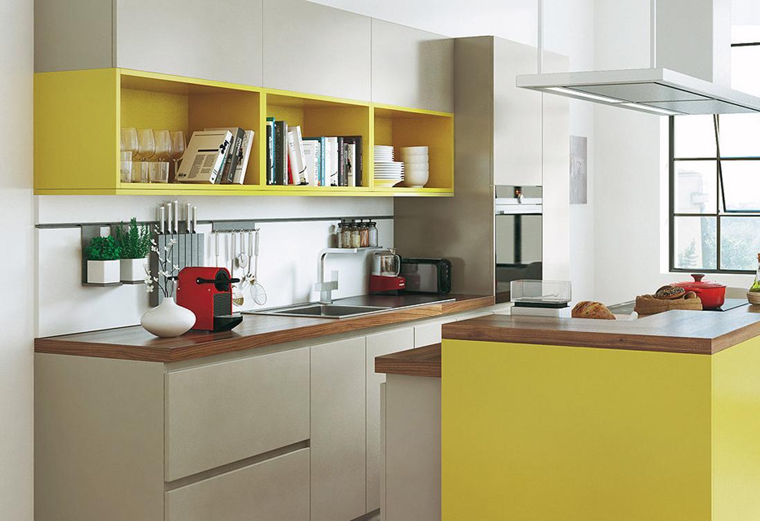 Кухня 7 кв м желтая
