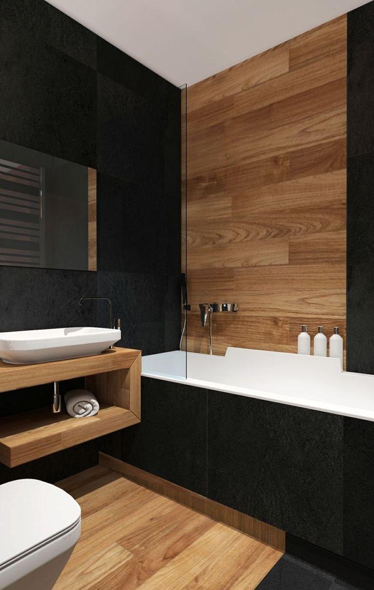Черная ванная 9 кв. м