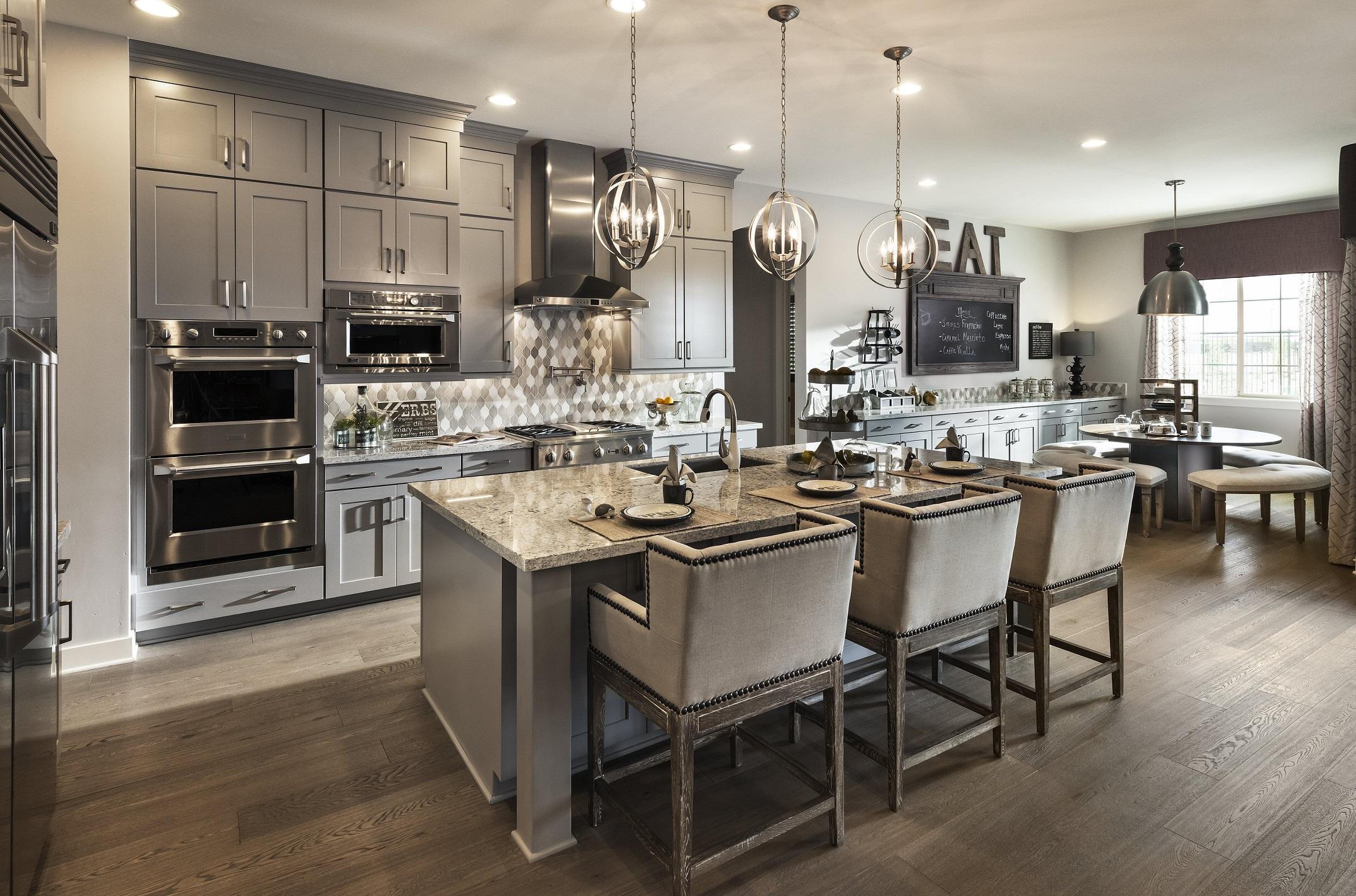 Дизайн кухни серого цвета 2017
