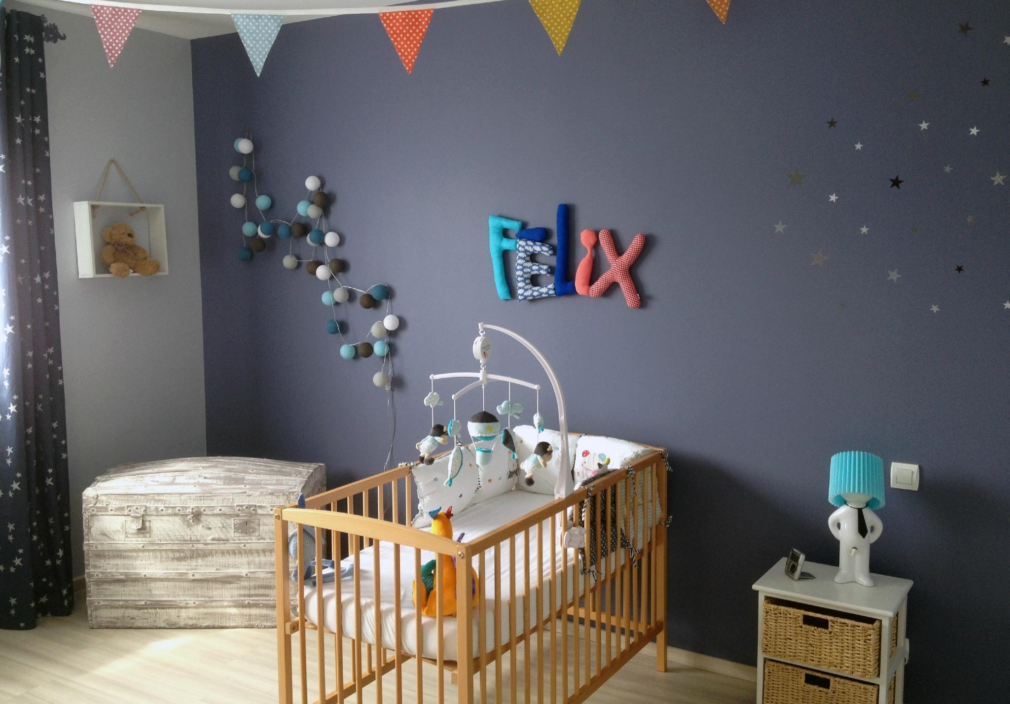 Декор детской кроватки мобиль