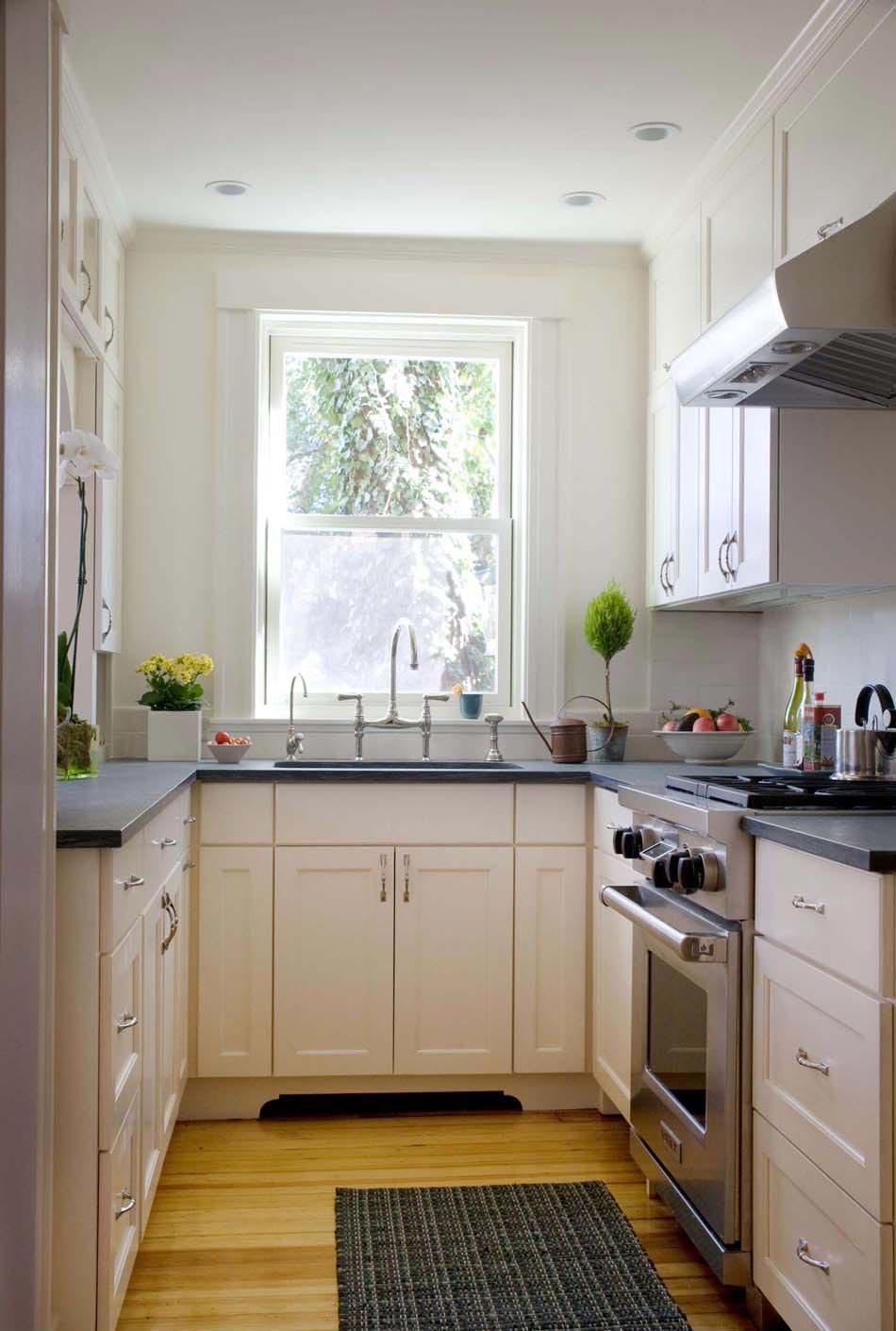 Кухня 7 кв м с гарнитуром по периметру