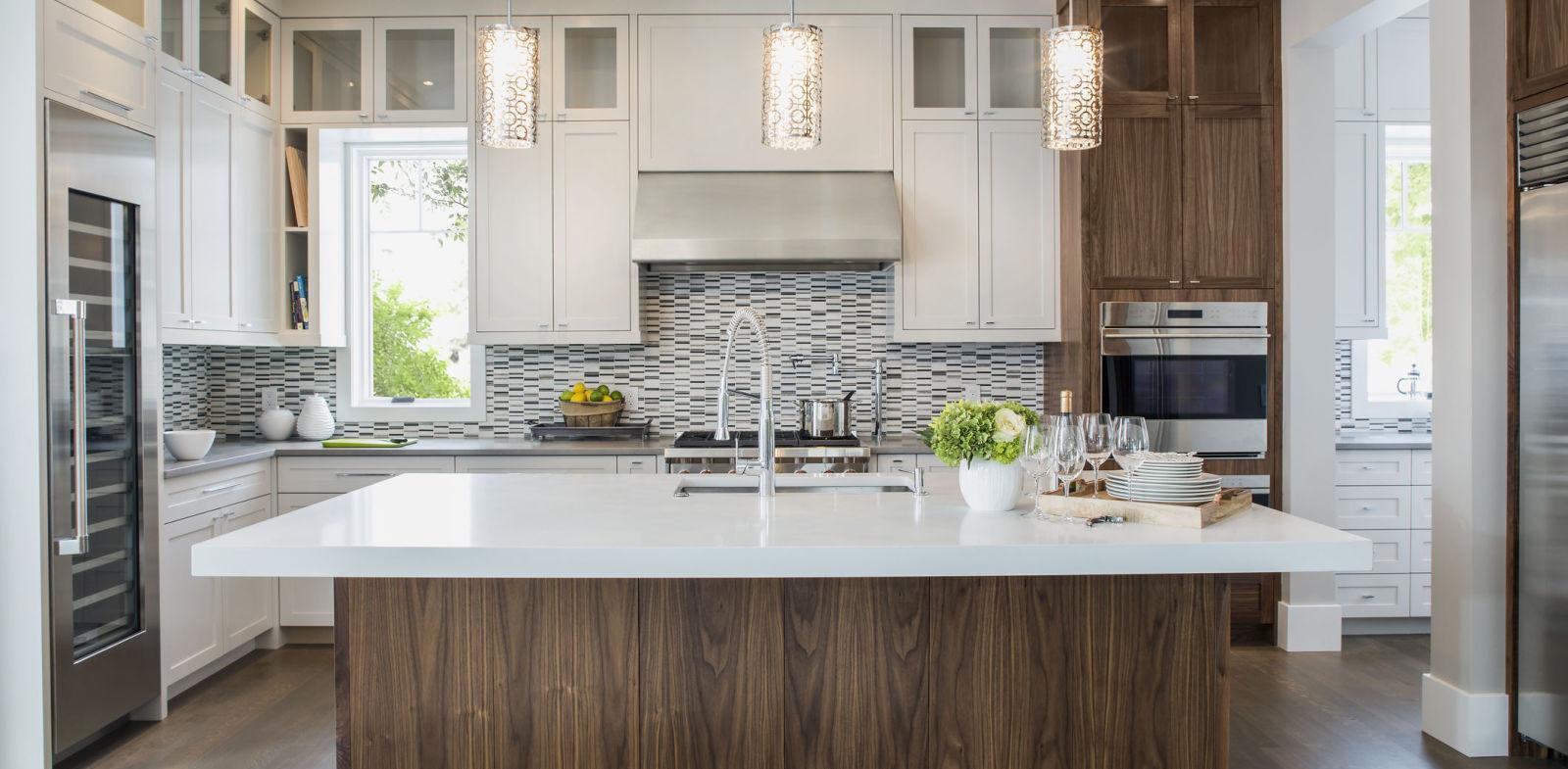 Дизайн кухни с освещением 2017