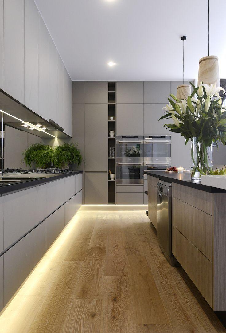 Дизайн кухни с подсветкой 2017