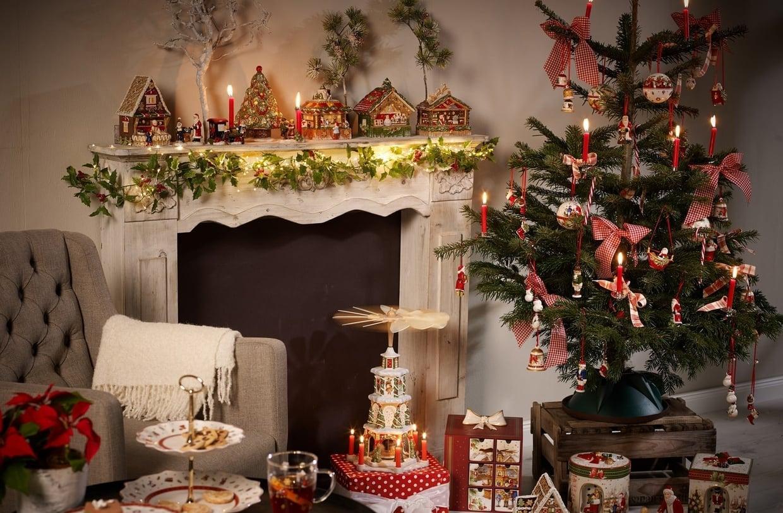 Оформление новогодней елки свечами