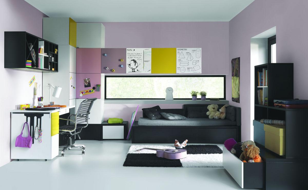 Черный диван кровать для подростка