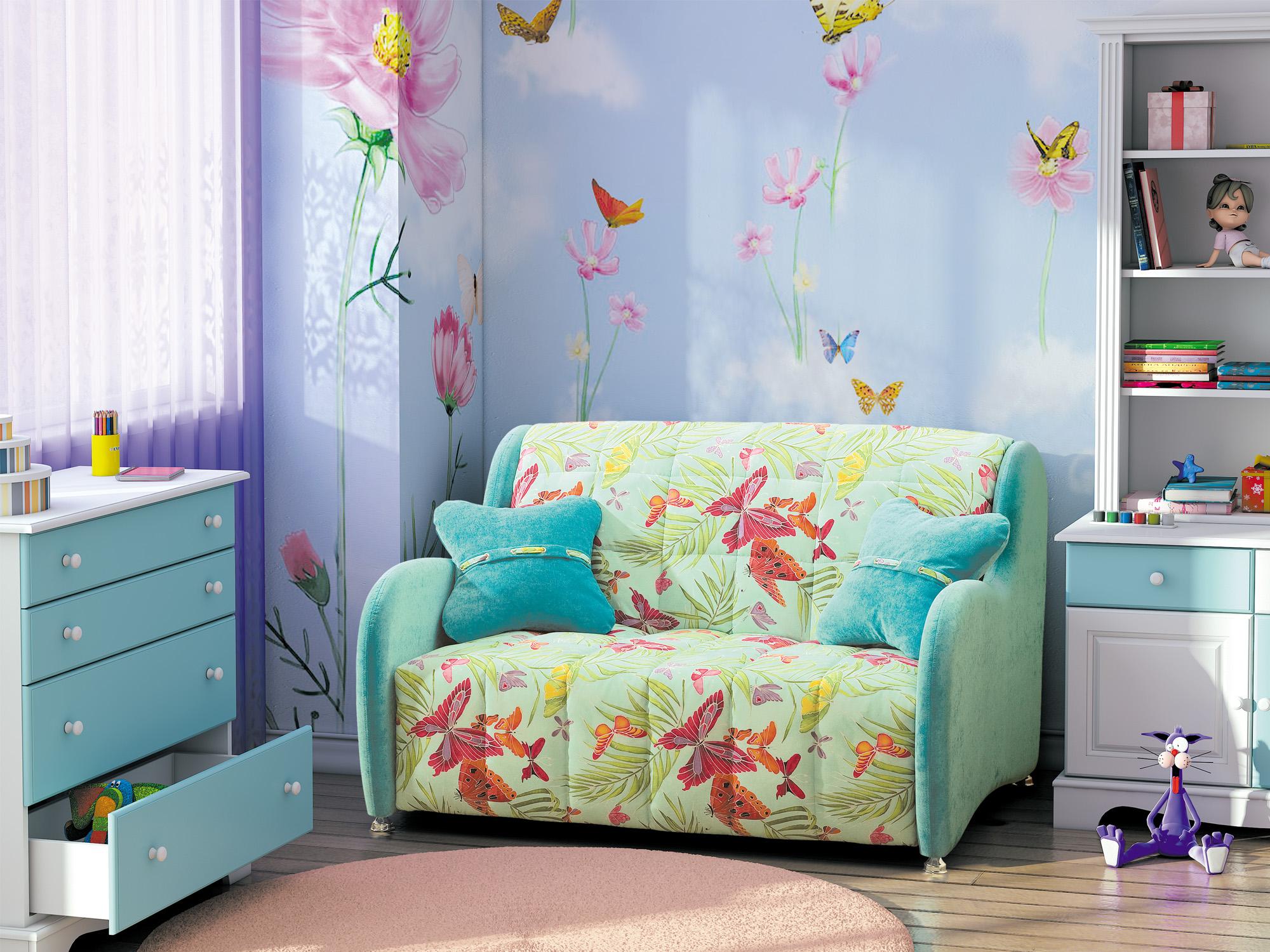 Диван для подростка с бабочками