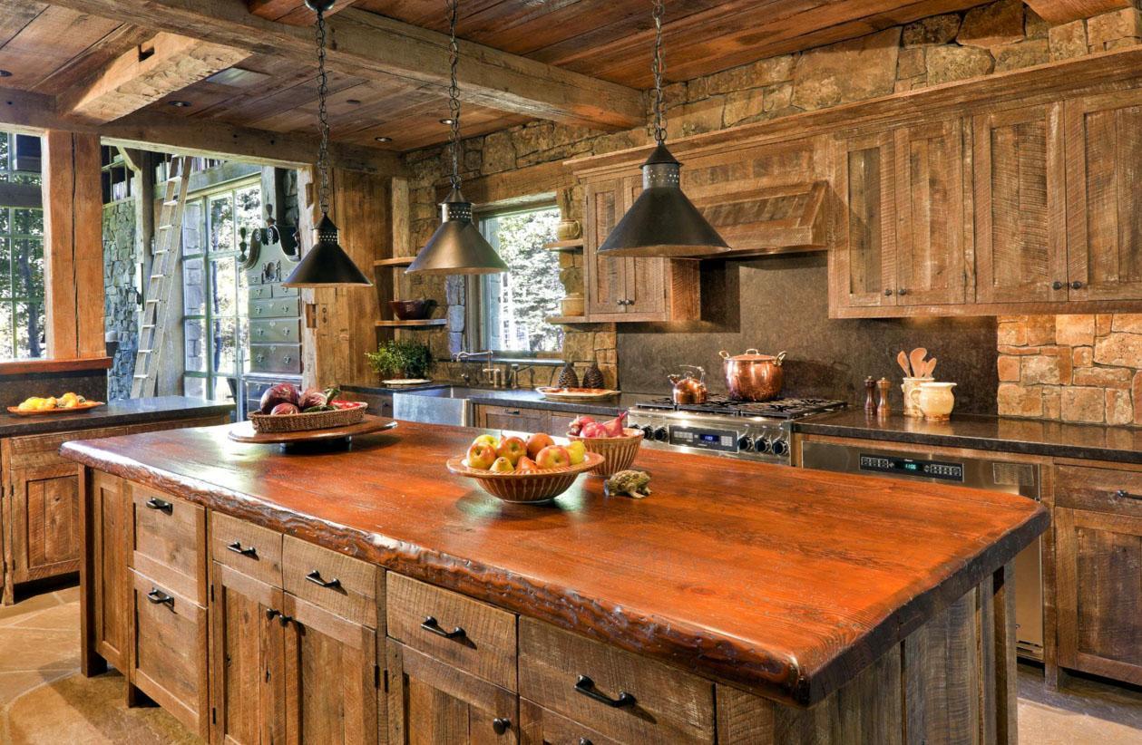 Дачная кухня в стиле рустик